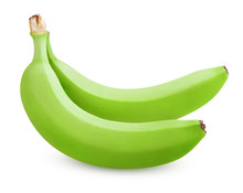 Two Green Bananas Isolated On ...