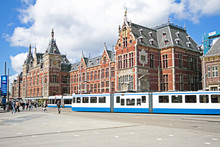 Central Station In Amsterdam T...