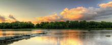 River Rapids Sunset