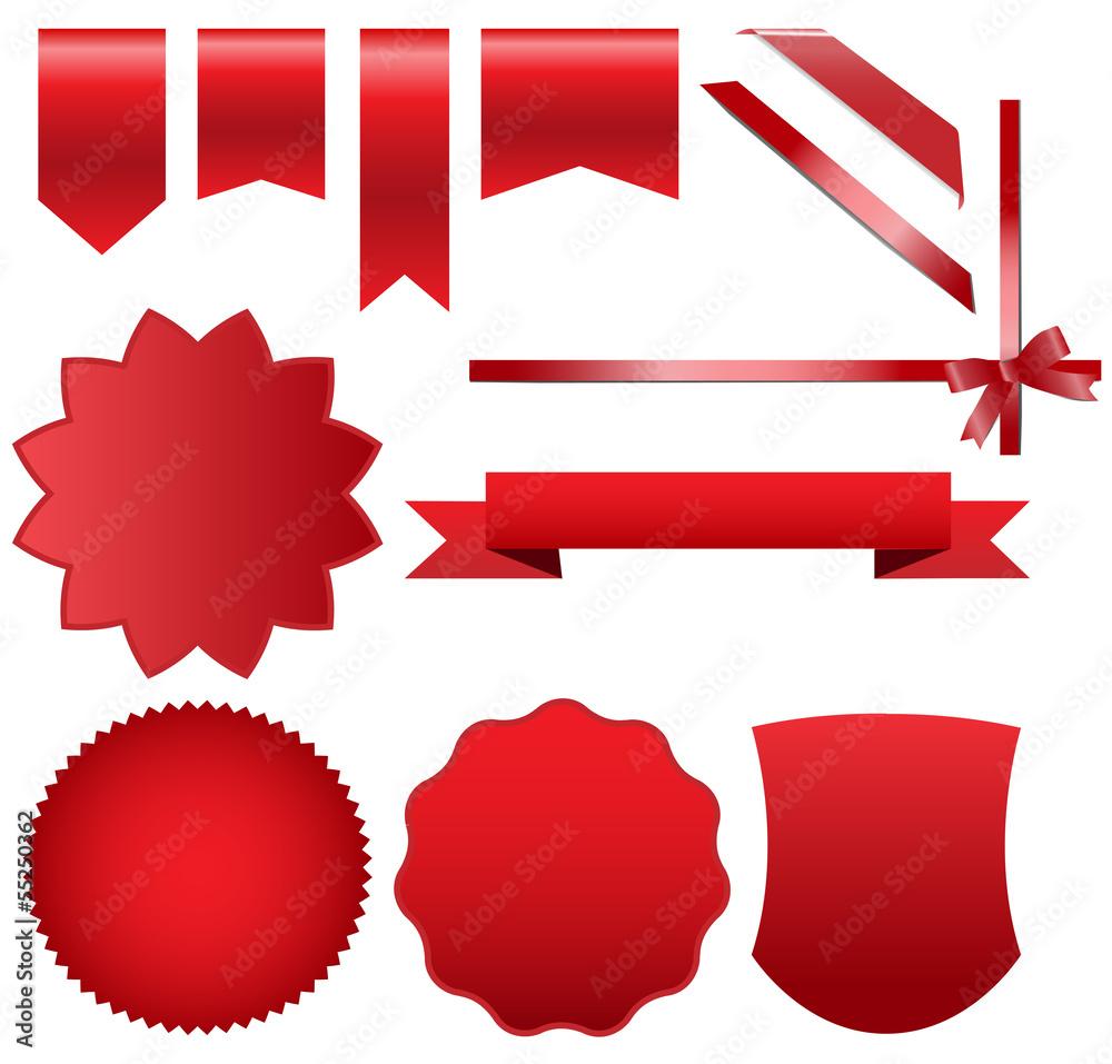 Fototapeta red set