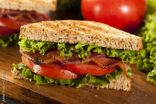 Photo Stands Snack Fresh Homemade BLT Sandwich