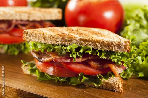 Staande foto Snack Fresh Homemade BLT Sandwich