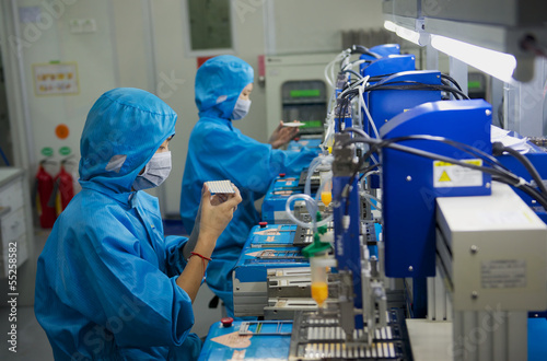 Fotografie, Obraz  science factory china production LED technology