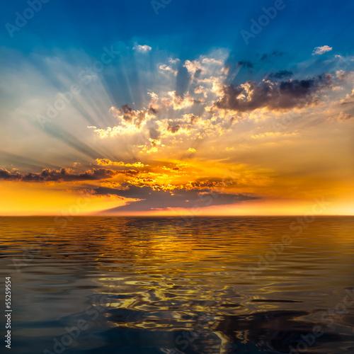 Foto-Kissen - Sonnenuntergang (von froxx)