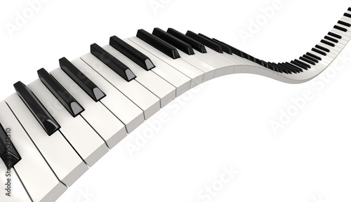 Fotografie, Obraz  Piano keys (clipping path included)