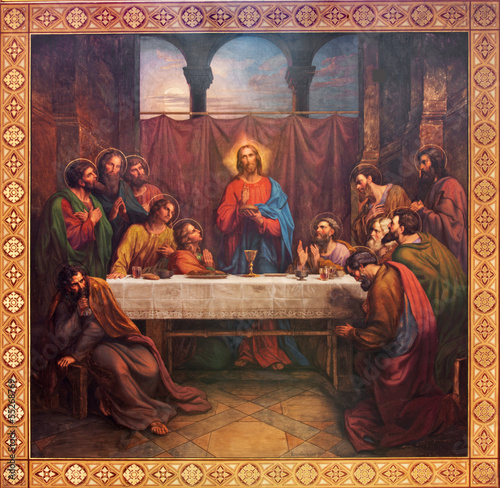 Vienna - Fresco of Last supper of Christ - 55268769