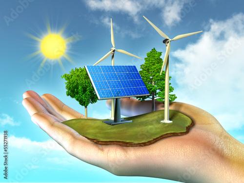Photo Stands Turquoise Renewable energy