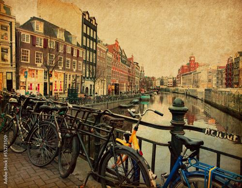 amsterdam-holandia-zdjecie-w-stylu-retro-tekstury-papieru