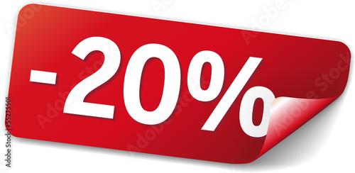 Poster  sticker rot -20%