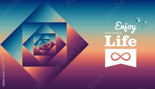 Fotografie, Obraz  Retro life style pattern poster