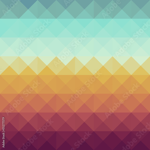 Photo sur Aluminium ZigZag Vintage hipsters geometric pattern.