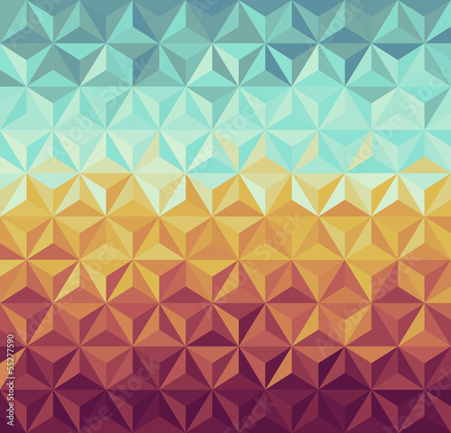 Canvas Prints ZigZag Retro hipsters geometric pattern.