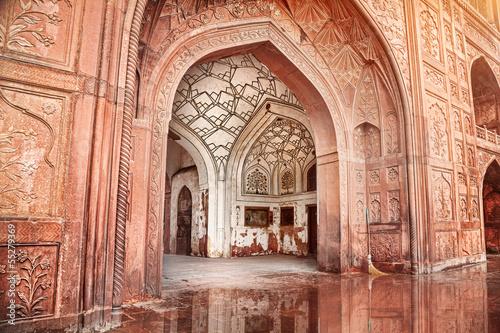 Stickers pour porte Delhi Red fort in India