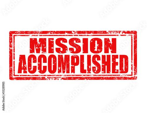Fotografía  Mission accomplished-stamp
