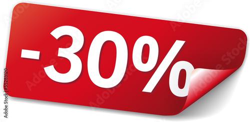 Fotografia  sticker 30% sparen