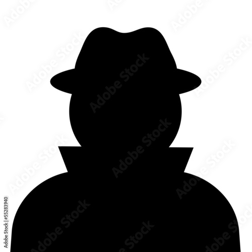 Unknown person, vector silhouette Fototapeta