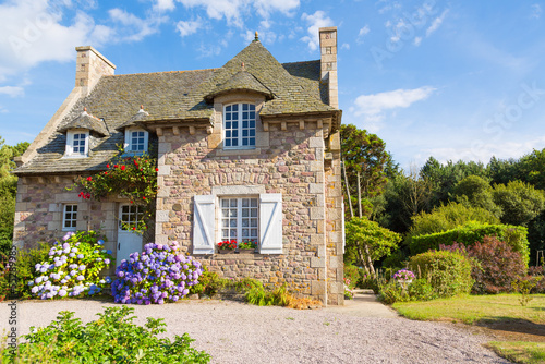 Photo  French Brittany typical house