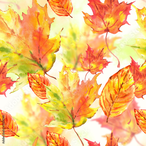 akwarela-opuszcza-bezszwowego-jesieni-tlo