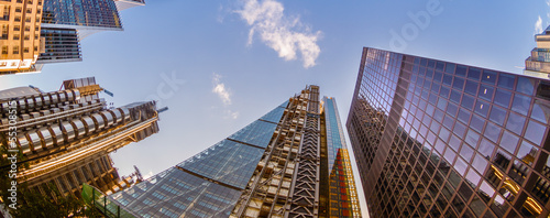 Foto op Aluminium London Skyscrapers in the City of London