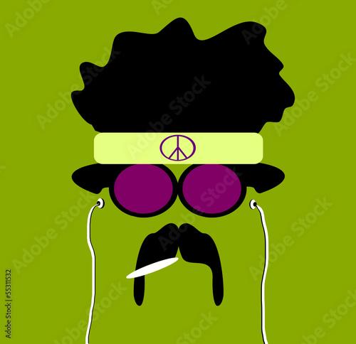 Photo  hippie smoking marijuana