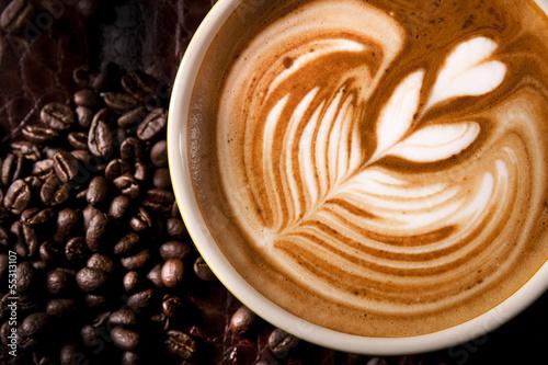Latte Art Fototapet