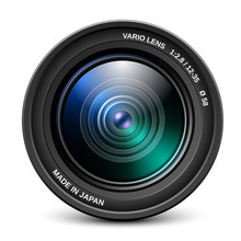 Camera Lens Isolated On White ...