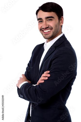 Photo  Smiling confident business executive