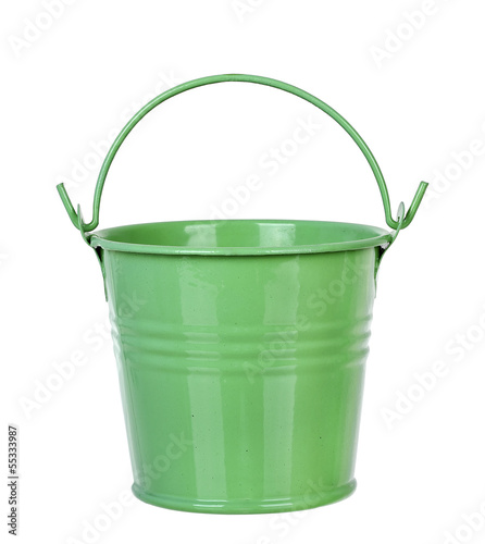 green bucket Wall mural