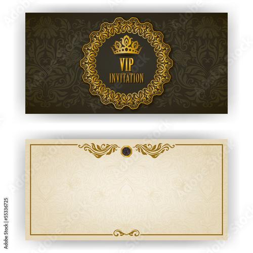 Fotografía  Elegant template for vip luxury invitation