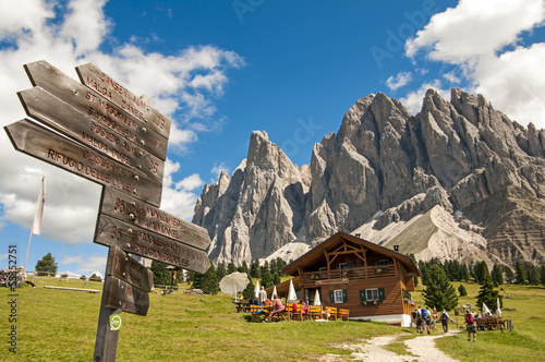 Photo  baita in sudtirol,dolomiti,Italia
