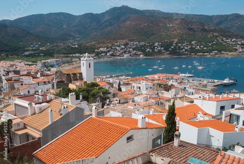 Slika na platnu Port de la Selva view of the town in the Mediterranean sea.