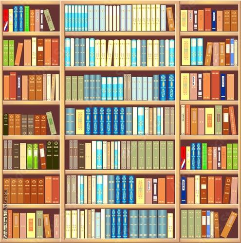 Fotografie, Obraz  Bookcase full of books