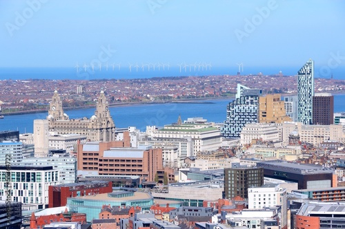 Liverpool aerial view, United Kingdom Poster