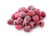 canvas print picture - Frozen Raspberries