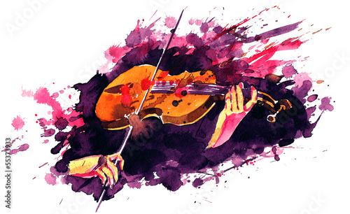 Foto auf Leinwand Gemälde violin