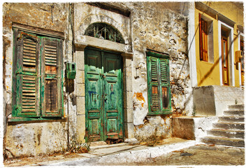 Fototapetacharming old streets of Greek islands