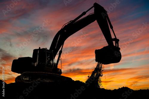 Carta da parati track-type loader excavator at work