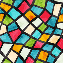 Colored Mosaic Seamless Patter...