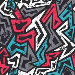 Tapeta colored graffiti seamless pattern with grunge effect