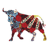 bull in a Spanish ornament - 55388123
