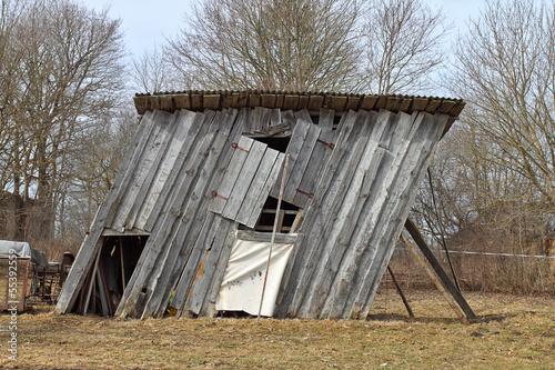 Fotografie, Obraz  Ramshackle barn