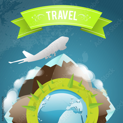 Staande foto Kasteel Travel icon