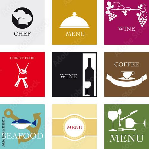 Fotografie, Obraz  Etichette per la ristorazione