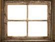 canvas print picture - altes Fenster, Fensterrahmen, vintage shabby window