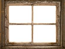 Altes Fenster, Fensterrahmen, Vintage Shabby Window