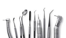 Row Of Various Dental Tools