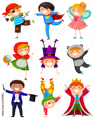 dzieci-noszace-rozne-kostiumy