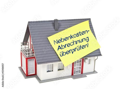 Haus Mit Zettel Und Nebenkostenabrechnung Buy This Stock Photo And