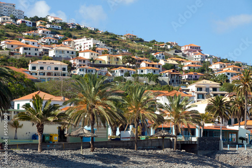 Printed kitchen splashbacks Coast Beach in Santa Cruz, Madeira island, Portugal