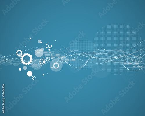 Staande foto Wereldkaart global infinity computer technology concept business background